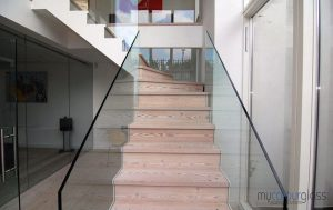 stair glass balustrades