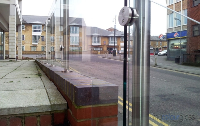 Glass balustrades with posts
