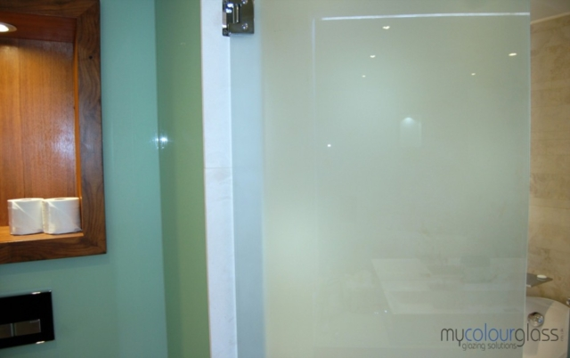 Glass door bathroom