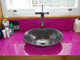 RAL4006 glass worktop