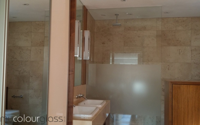 Toughened glass shower screen