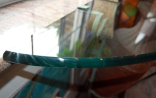 Bevelled Glass table