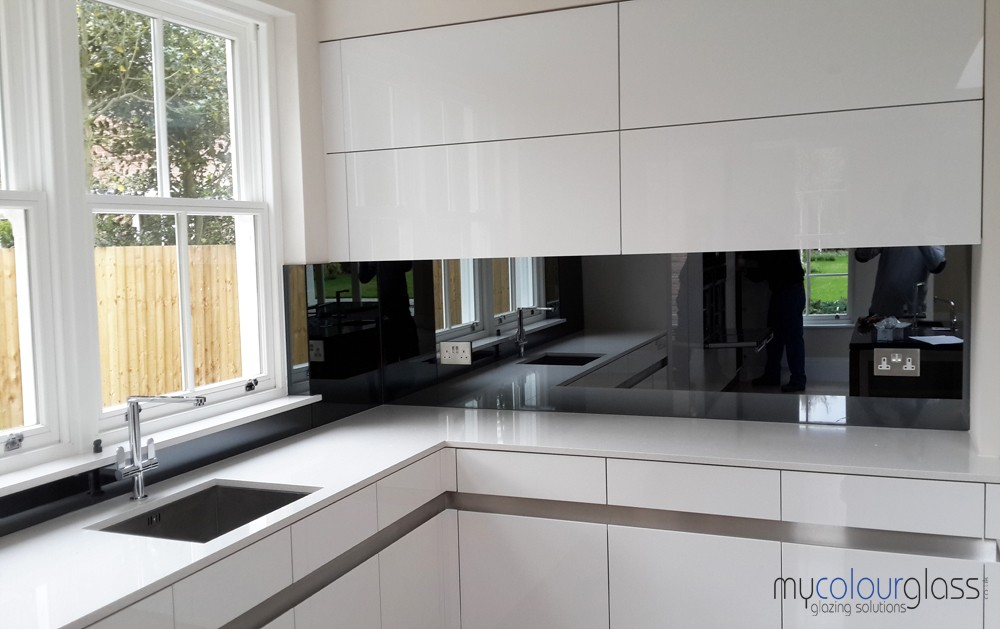 Grey tinted Mirror kitchen
