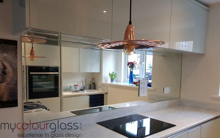Silver Mirror Kitchen Splashback