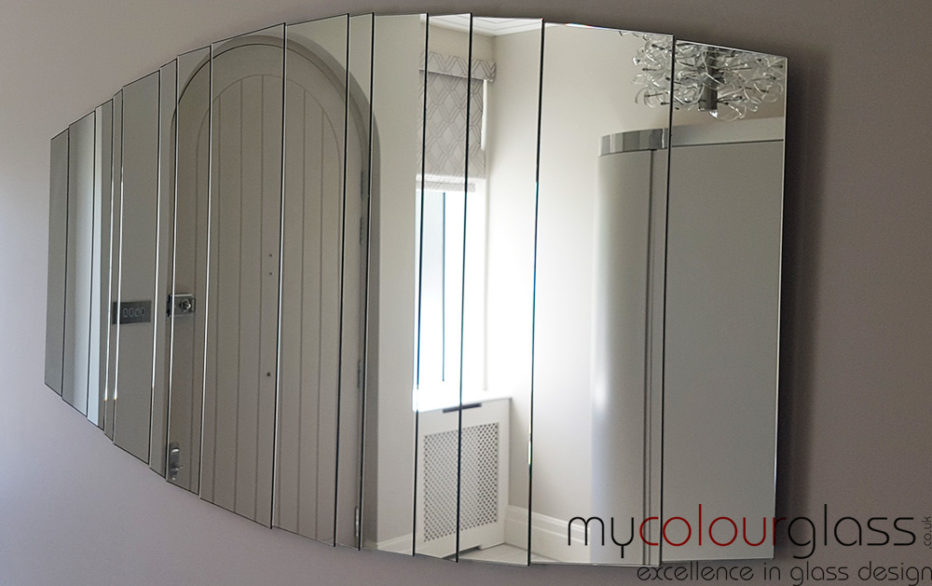 Wall shaped mirrors
