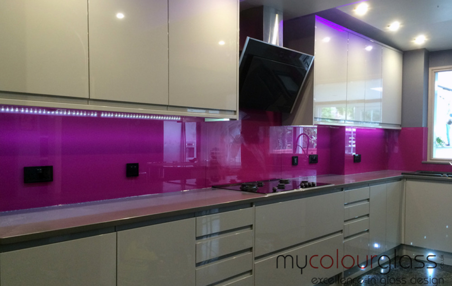 coloured kitchen glass