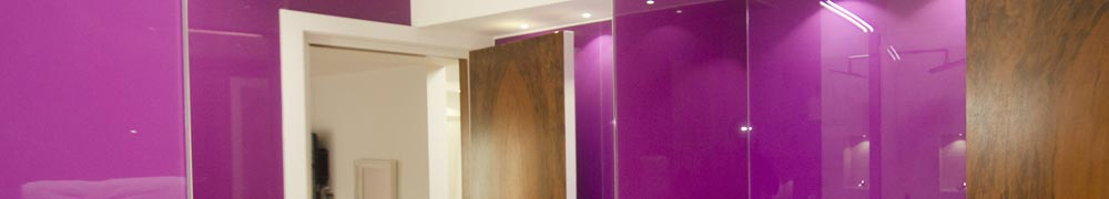 bathroom glass cladding