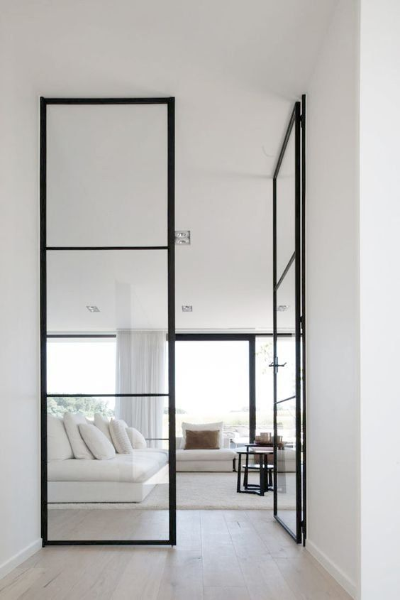 Minimalist Glass Door Design Image
