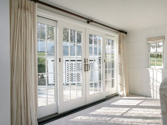 Bedroom Glass Doors Image