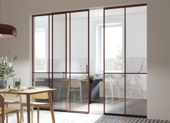 Dining Room Glass Partition Image