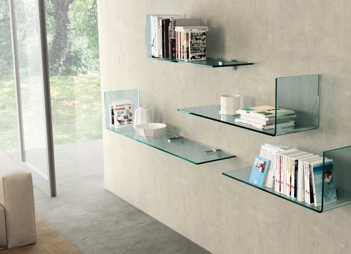 Home Office Glass Shelves Image